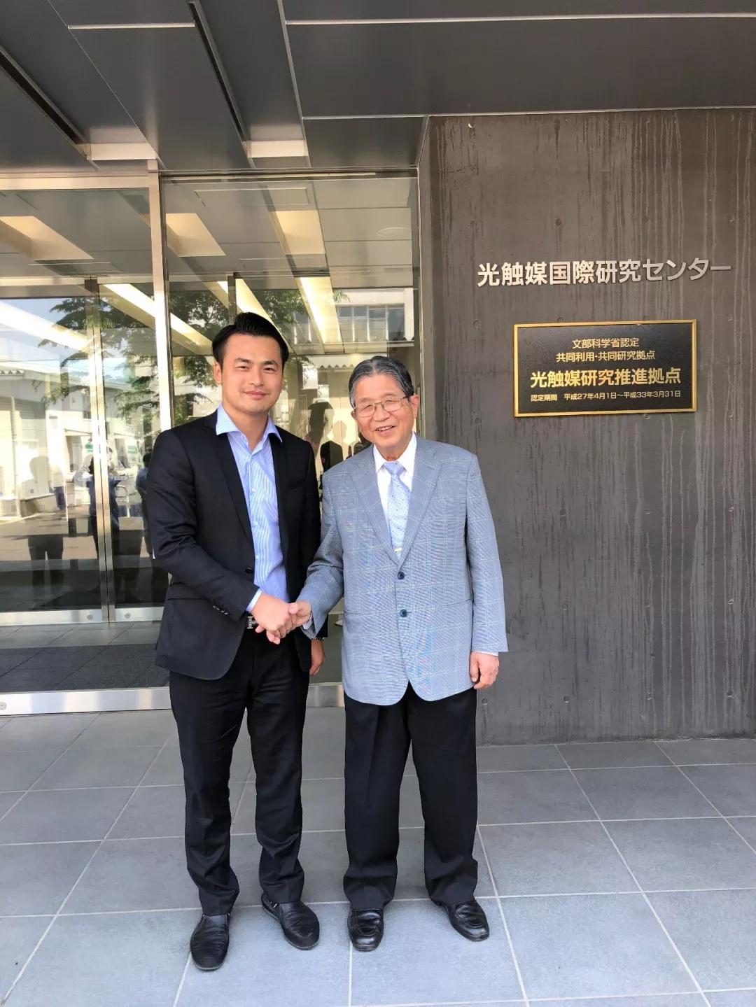 """创绿家环保应邀赴日本与""""光触媒之父""""藤岛昭先生进行了深入交流"""